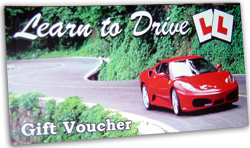 driving lesson gift voucher